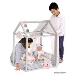 Lit Petite Maison de Poupée en Bois Martín DeCuevas Toys 54929 | DeCuevas Toys