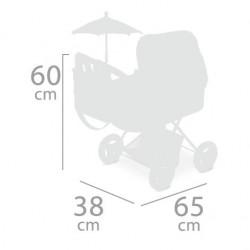 Chariot de Poupée Pluant avec Parasol Martina DeCuevas Toys 85033   DeCuevas Toys